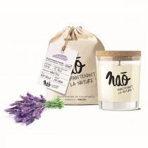 Naõ - Bougie parfumée Bio verre sérigraphié Lavande 200g