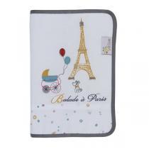 P'tit Basile - Protège carnet de santé - Little Paris blanc