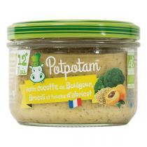 Potpotam - Petit pot cocotte de boulgour brocoli et touche d'abricot 200g