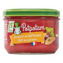 Potpotam - Petit pot douceur de betterave, filet de saumon 200g