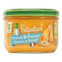 Potpotam - Petit pot purée de butternut fricassée de poulet 180g