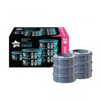 Sangenic - 6 Recharges pour poubelles Twist & Click et TEC