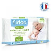Tidoo - 40 Lingettes au liniment et coton Bio
