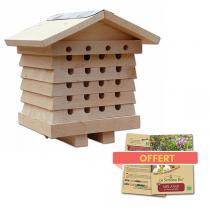 Wildlife World - Ruche pour abeilles solitaires et sachet de graines offert