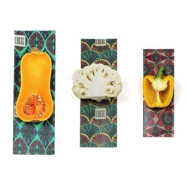 Cosse Nature - Lot 3 emballages reutilisables cire vegetale Fleurs
