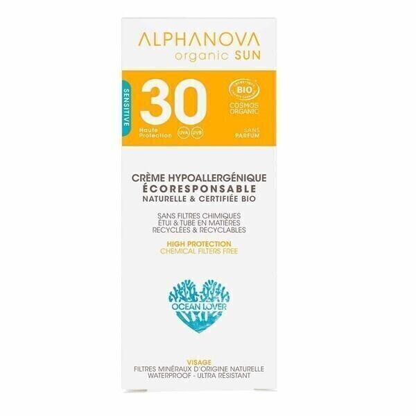 Alphanova - Crème solaire SPF30 Hypoallergénique 50ml