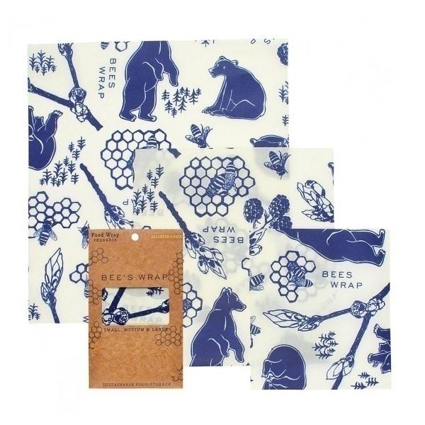 Bee's Wrap - Emballage réutilisable 3 tailles Bears