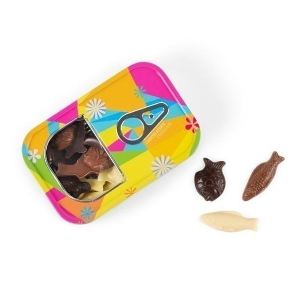 Chocolaterie Castelain - Friture chocolat noir, lait et blanc 120g