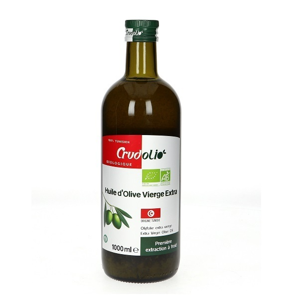 Crud'Olio - Huile d'olive extra vierge Tunisie 1000ml