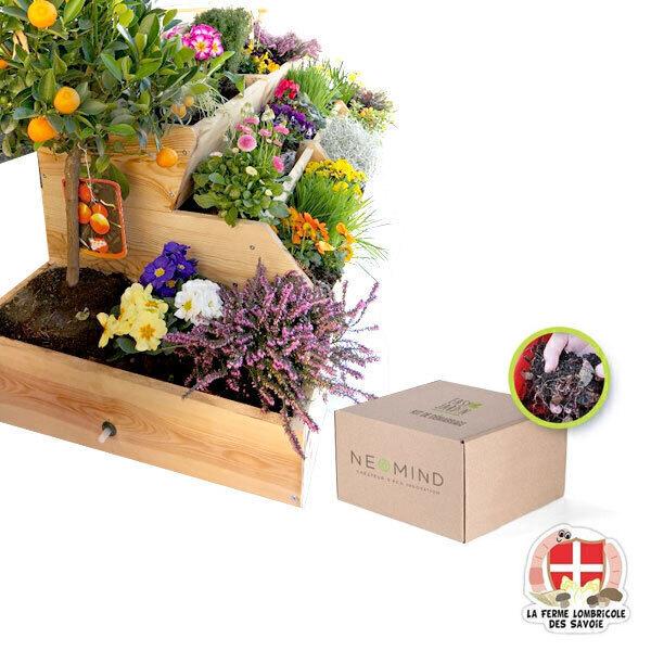 Easy Jardin - Potager composteur Easy Jardin 1600 et vers de compost