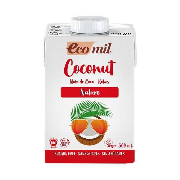 EcoMil - Lait coco nature sans sucres ajoutés 500ml