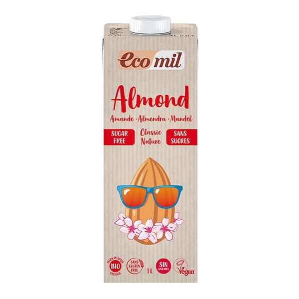 EcoMil - Lait amande 2% sans sucres 1L