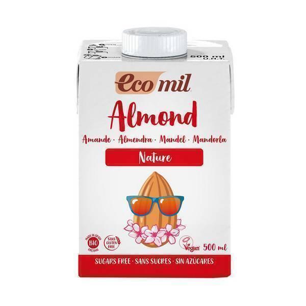 EcoMil - Lait Amande Nature sans sucre ajouté Bio 500ml
