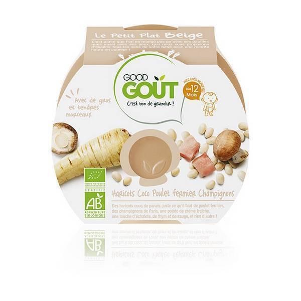 Good Gout - Lot de 2 x Assiette Haricots Coco Poulet Fermier et Champignons