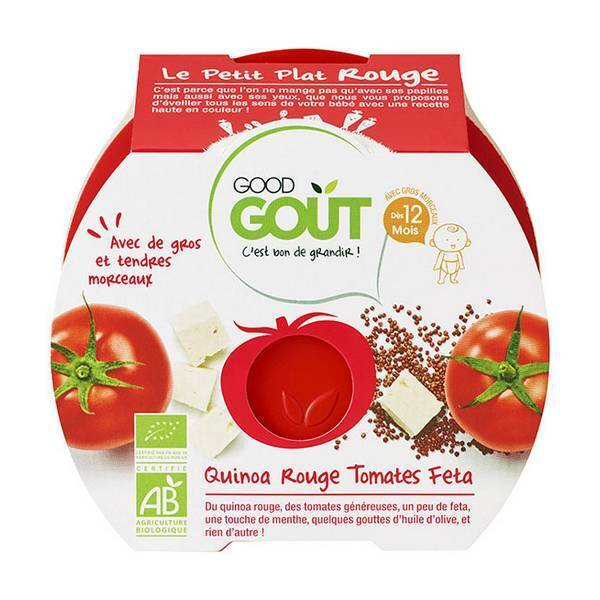 Good Gout - Lot de 2 x Assiette Quinoa Rouge Tomate Feta dès 12 mois