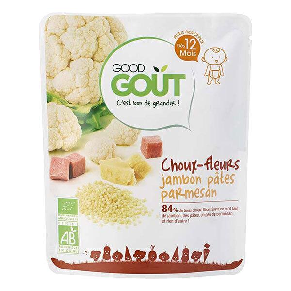 Good Gout - Lot de 2 x Petit plat choux-fleurs jambon parmesan dès 12 mois