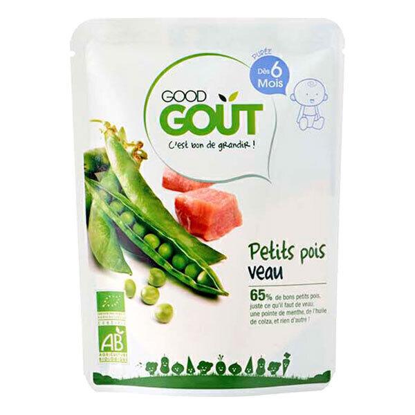 Good Gout - Lot de 2 x Petit plat petit pois veau dès 6 mois - 2 x 190g