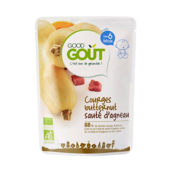 Good Gout - Lot de 2 x Plat Courges Butternut Sauté d'Agneau dès 6 mois