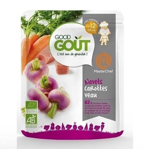 Good Gout - Lot de 2 x Plat Préparé Navets Carottes Veau dès 12 mois