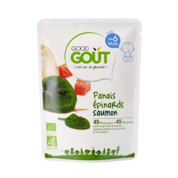 Good Gout - Lot de 2 x Plat Panais Epinards Saumon dès 6 mois - 2 x 190g