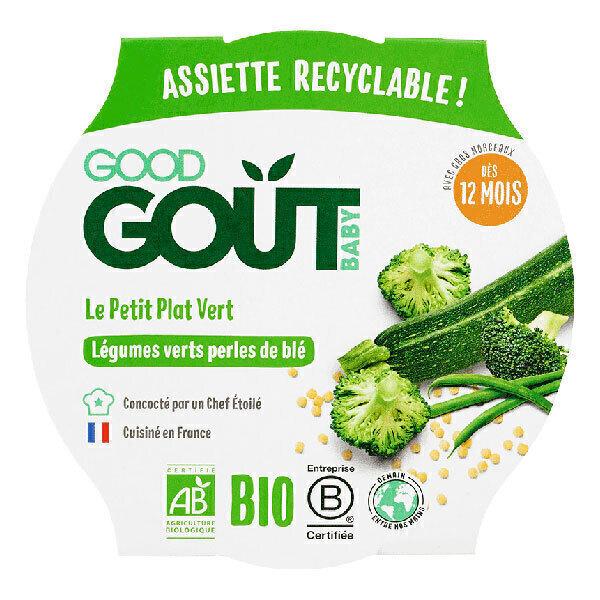 Good Gout - Lot de 2 x Assiette Légumes Verts et Perles de Blé dès 12 moi