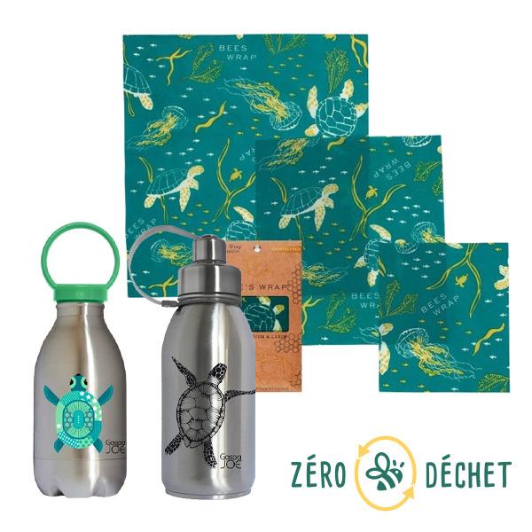 """Packs Zéro Déchet - Pack découverte Zéro Déchet 3 produits """"Tortue"""""""