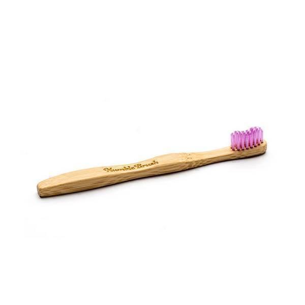 Humble brush - Brosse à dents enfant ultrasoft bambou Violet