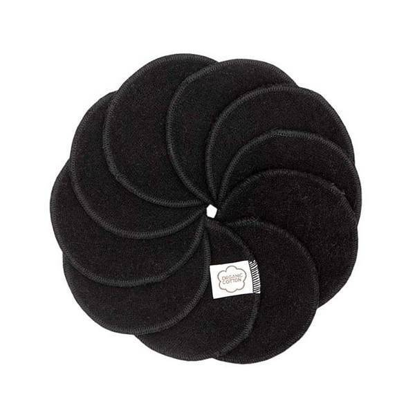 Imsevimse - Lot de 10 disques démaquillants lavables noirs