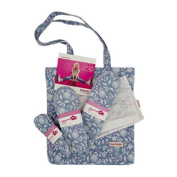 Imsevimse - Kit de démarrage serviettes hygièniques lavables fleuries