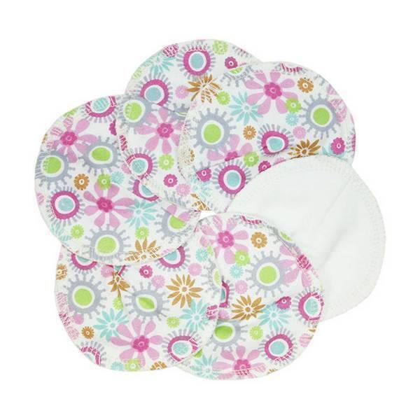 Imsevimse - Lot de 6 coussinets d'allaitement coton fleuri