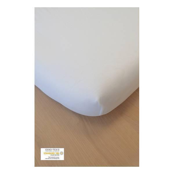 Kadolis - Drap Housse Coton Bio Blanc 140x190