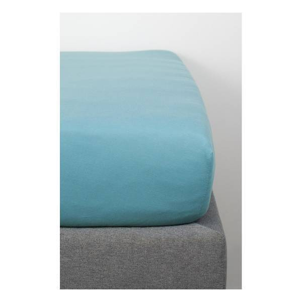 Kadolis - Drap Housse Coton Bio Bleu 160x200
