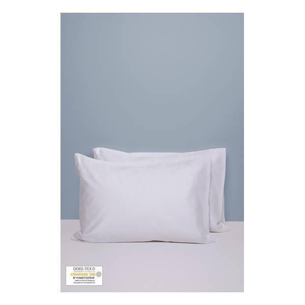 Kadolis - 2 taies d'oreiller Blanc 40x60