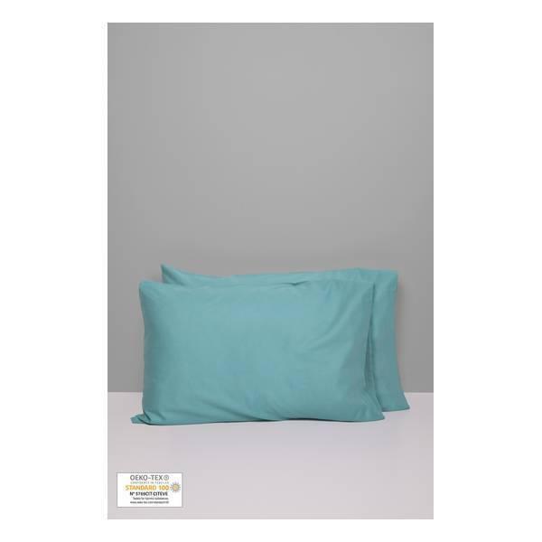 Kadolis - 2 taies d'oreiller Bleu 40x60