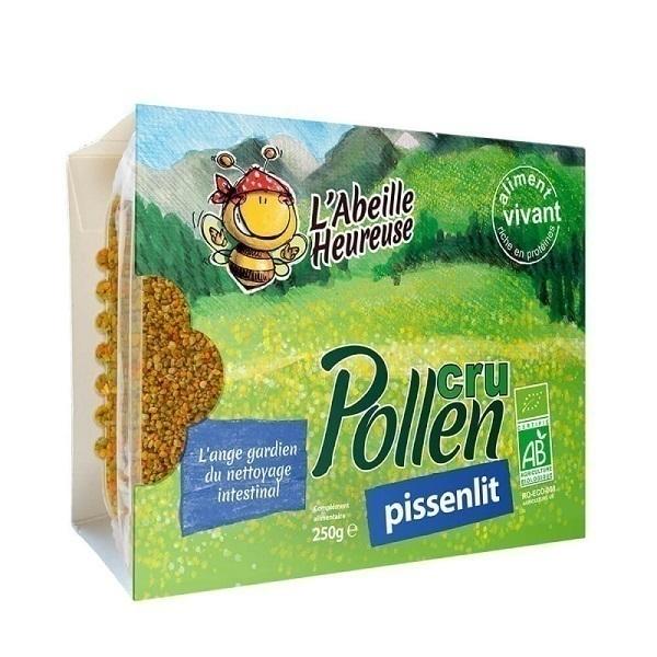 L'Abeille Heureuse - Lot de 3 boites de Pollen cru de Pissenlit 250g