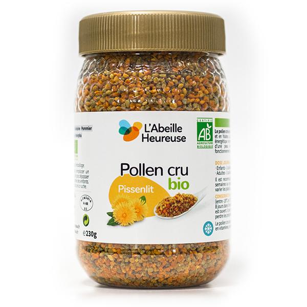 L'Abeille Heureuse - Lot de 3 pots de Pollen cru de Pissenlit 230g