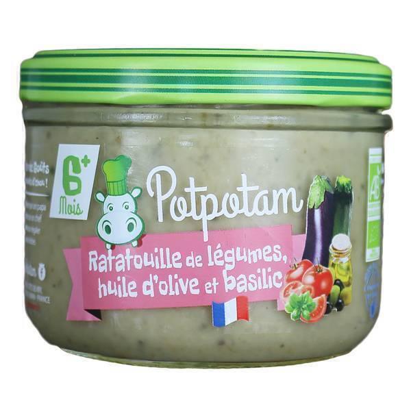 Potpotam - Petit pot ratatouille de légumes, huile d'olive et basilic 180g