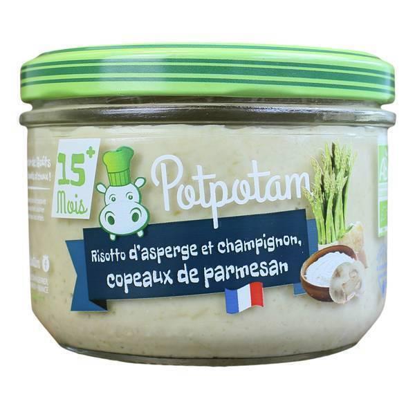 Potpotam - Petit pot risotto d'asperge, champignons et parmesan 200g