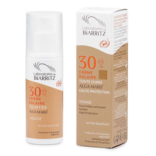 Laboratoires de Biarritz - Alga maris Crème solaire visage teintée dorée SPF 30 50ml