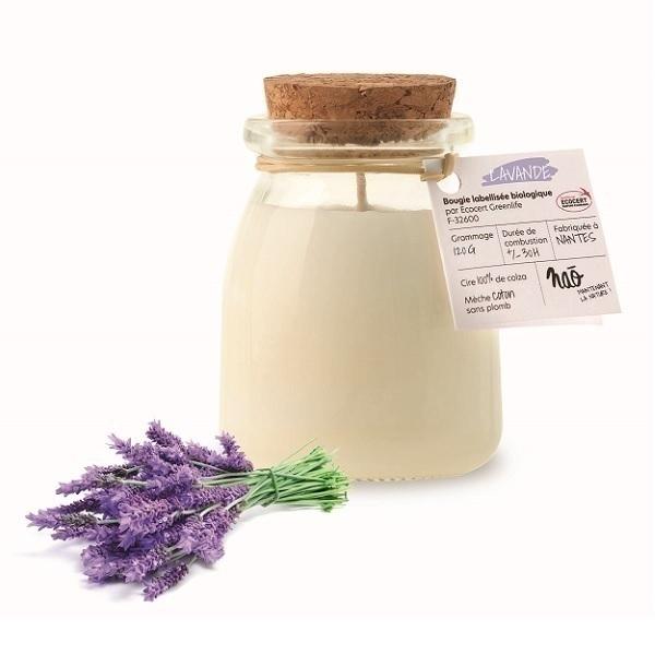 Naõ - Bougie parfumée Bio pot de yaourt Lavande 120g