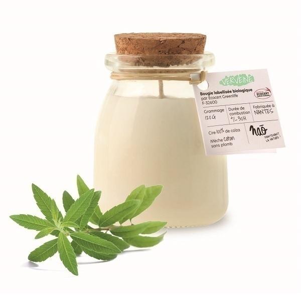 Naõ - Bougie parfumée Bio pot de yaourt Verveine 120g