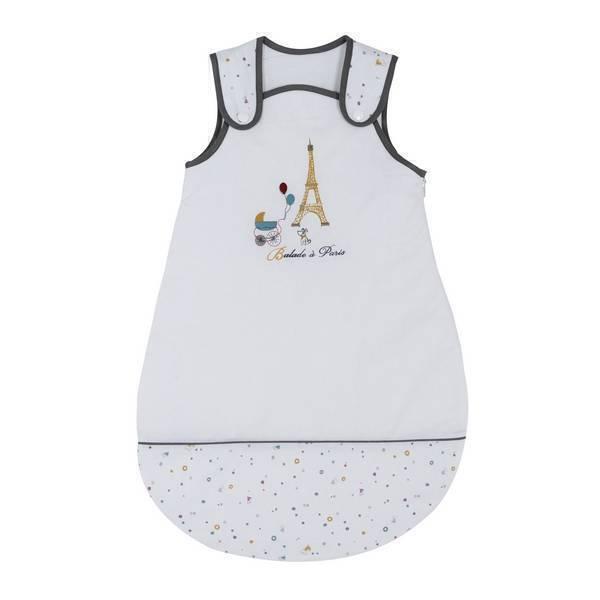 P'tit Basile - Gigoteuse Little Paris blanche 0-6 mois