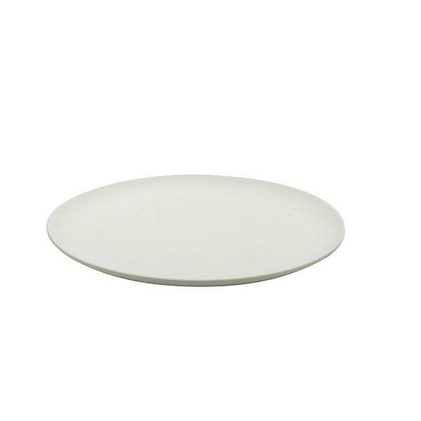 Point Virgule - Assiette plate fibre de bambou Blanc cassé 21cm