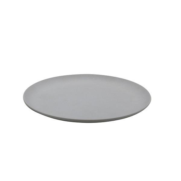 Point Virgule - Assiette plate fibre de bambou Gris ciment 21cm