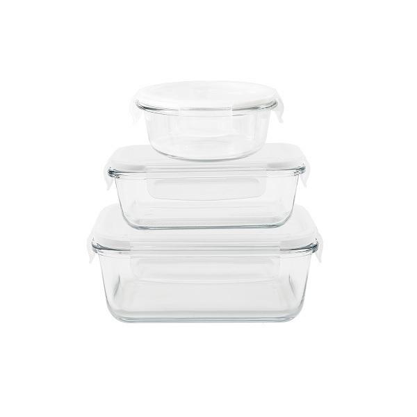 Pebbly - Assortiment de 3 boîtes en verre borosilicate