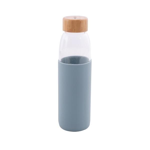 Point Virgule - Gourde en verre borosilicate Bleu brouillard 58cl