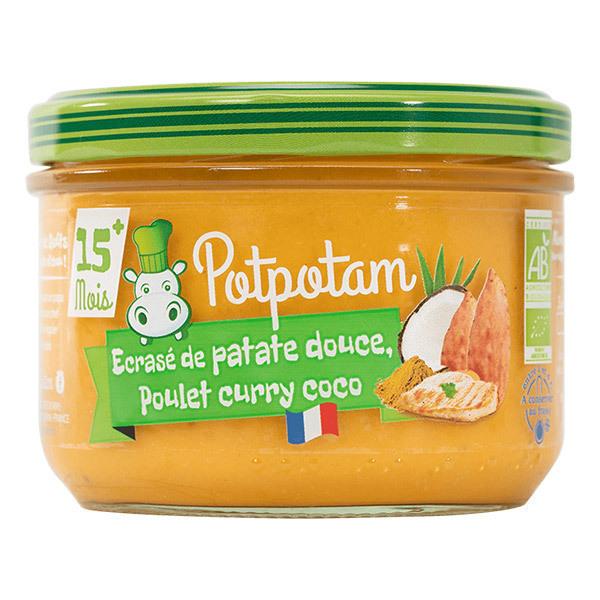 Potpotam - Petit pot écrasé de patate douce, poulet coco curry 200g