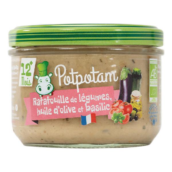Potpotam - Petit pot ratatouille de légumes, huile d'olive et basilic 200g