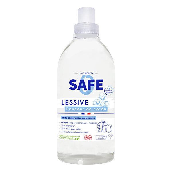 Safe - Lessive Douceur de coton 100% naturelle 1L