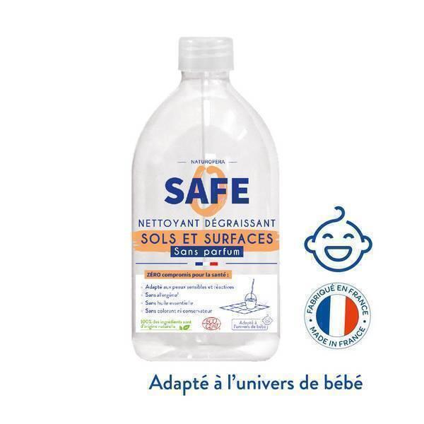 Safe - Spray nettoyant sols et surfaces Sans parfum 1L